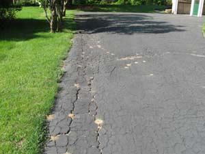 Sealant Damage Driveway Repair