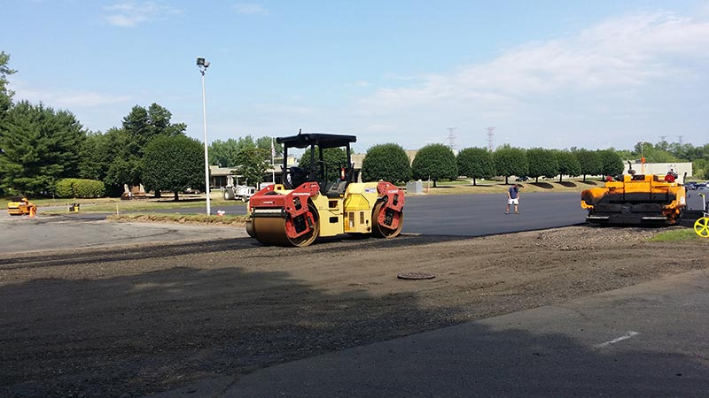 stanadyne parking lot paving